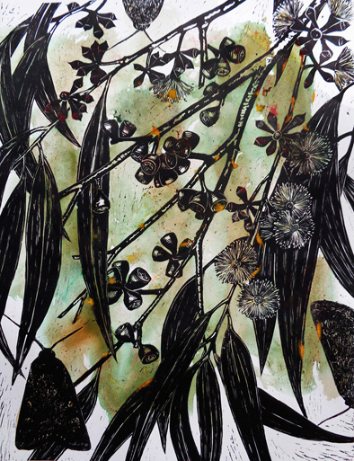 Marion Manifold_Botanica_Extincti_Linocuts_pauciflora, print 76x56cm